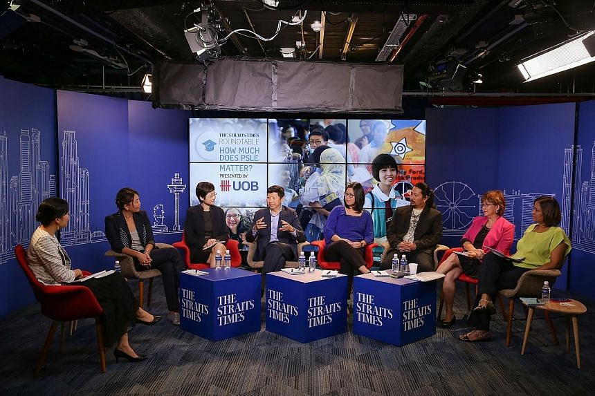 From left: The Straits Times' managing editor Fiona Chan, the moderator; Ms Wendy Ong, UOB executive director and head of group retail marketing; Ms Genevieve Chye, divisional director of the Education Ministry's engagement and research division; Nur
