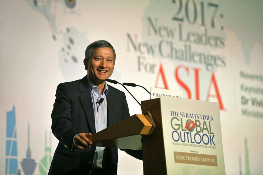 At The Straits Times Global Outlook Forum on Tuesday, Dr Balakrishnan said single incidents or even longstanding differences in perspective should not get in the way of the Singapore-China relationship.