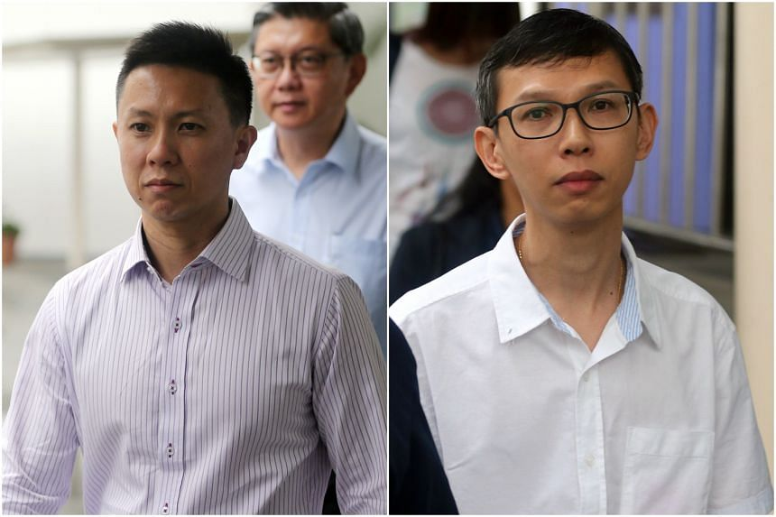 Teo Wee Kiat (left) and Lim Say Heng were charged in court on Thursday (Dec 1) over the accident along the MRT tracks earlier this year that claimed two lives.