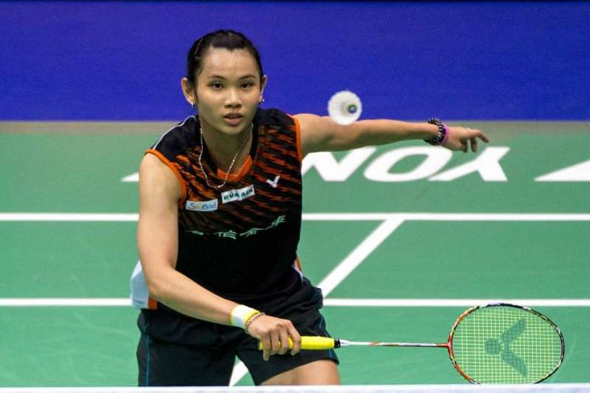 Taiwan's Tai Tzu-ying hits a shot against India's P.V. Sindhu during the women's singles final of the Hong Kong Open badminton tournament in Hong Kong on Nov 27, 2016.
