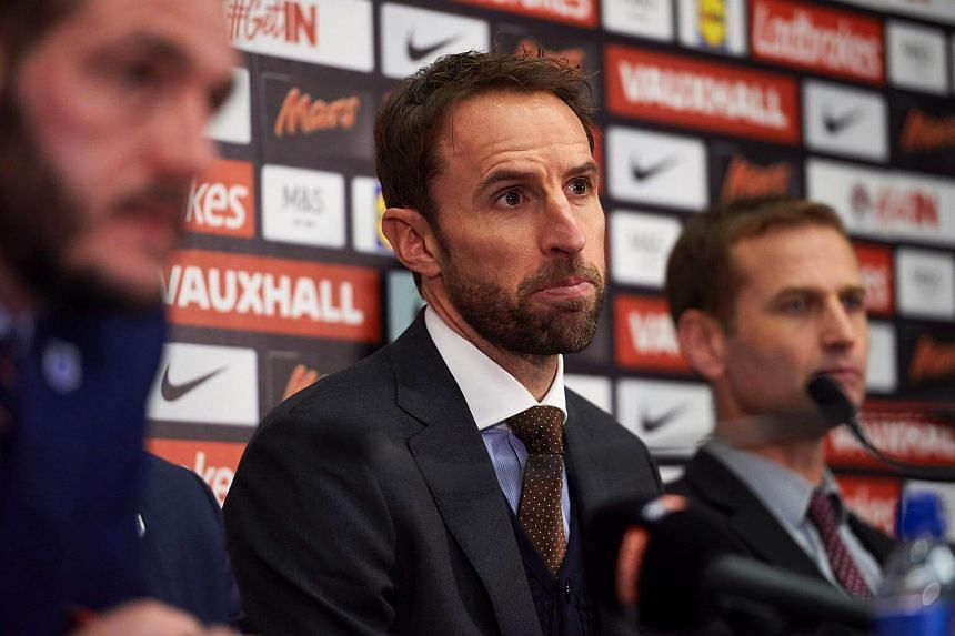 England's new manager Gareth Southgate takes part in a press conference at Wembley Stadium in London on Dec 1, 2016.