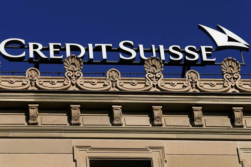 The logo of Swiss bank Credit Suisse is seen at its headquarters at the Paradeplatz in Zurich.