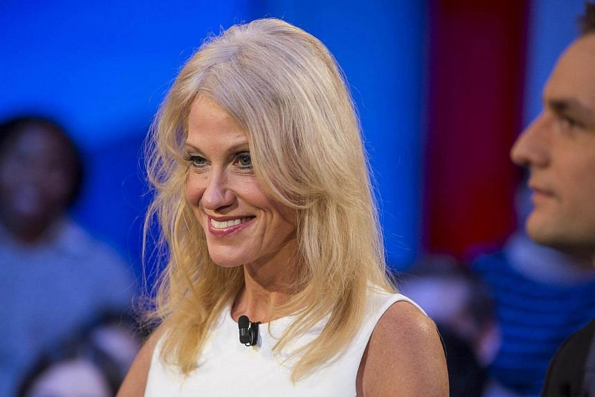 Trump Campaign Manager Kellyanne Conway speaks during the event titled War Stories: Inside Campaign 2016 at the Harvard Institute of Politics Forum on Dec 1, 2016 in Cambridge, Massachusetts.