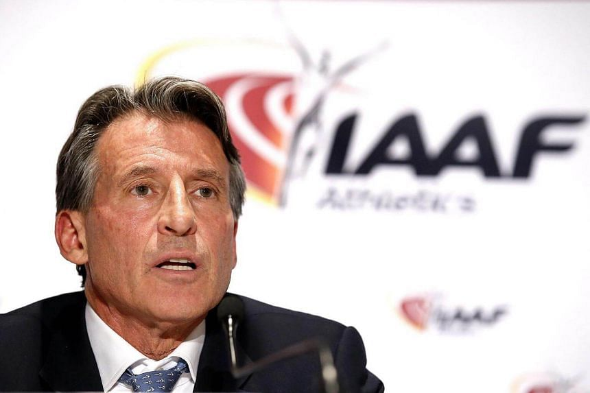 IAAF President Sebastian Coe of Britain speaks during a press conference of the 204th IAAF Council meeting in Monaco on Dec 1, 2016.
