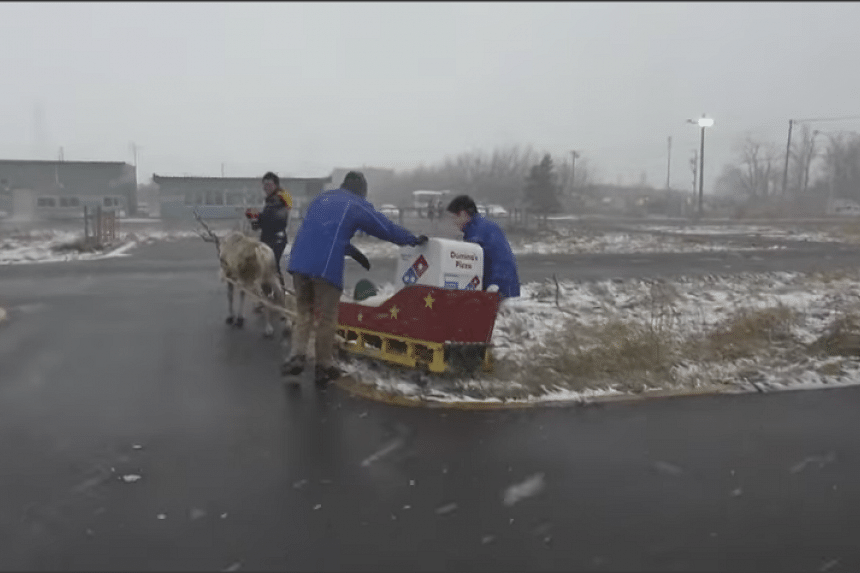 Domino's Japan has cancelled its plans to use reindeer to deliver pizzas this winter, as it has proven difficult to control the animals.