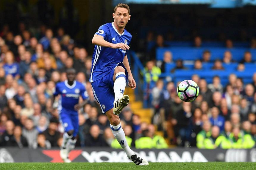 Chelsea's Serbian midfielder Nemanja Matic passes the ball during the English Premier League football match between Chelsea and Manchester United at Stamford Bridge in London, on Oct 23, 2016.