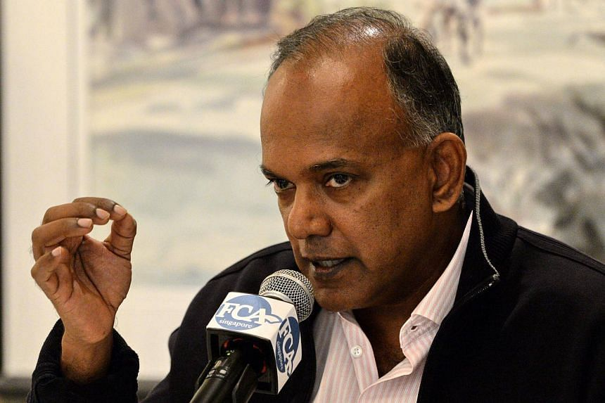 Singapore's Home Affairs Minister K. Shanmugam speaks to journalists during the Foreign Correspondents Association of Singapore luncheon in Singapore, on Dec 2, 2016.