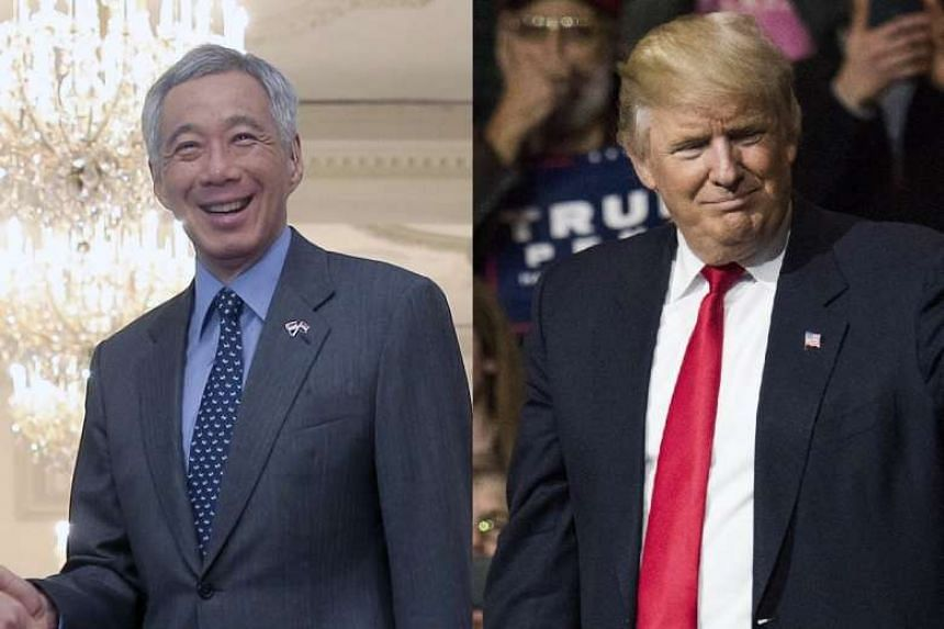 Prime Minister Lee Hsien Loong and United States President-elect Donald Trump had a telephone conversation.
