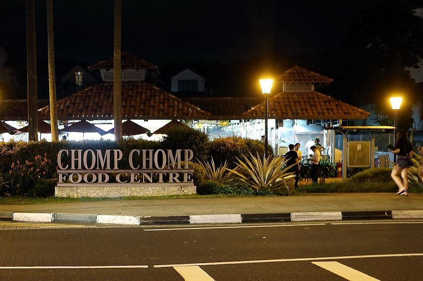 Chomp Chomp in Serangoon Gardens is one of four food centres being closed for repairs or renovations. Chomp Chomp and the Jurong West Street 52 site will close for between two and three months after January.