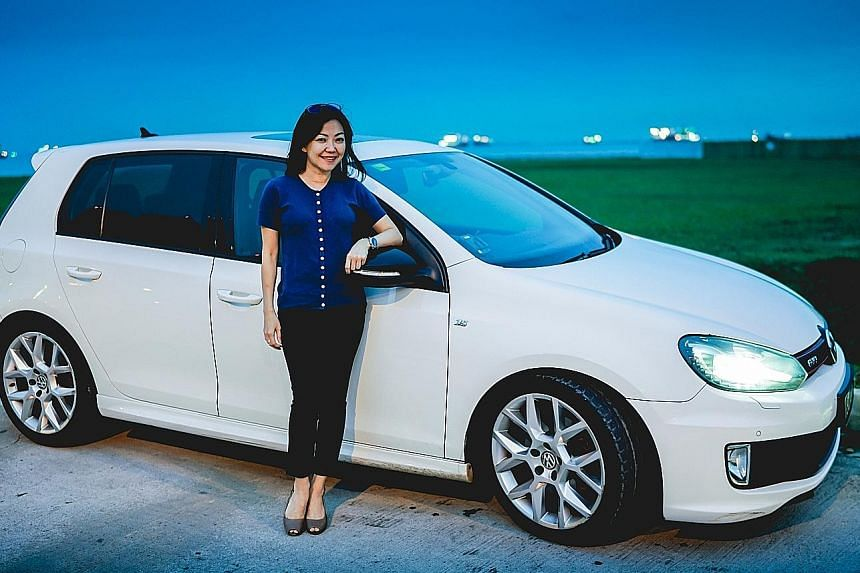 Ms Geraldine Tan bought the Volkswagen Golf GTI because it delivers superb acceleration, handling and stability.