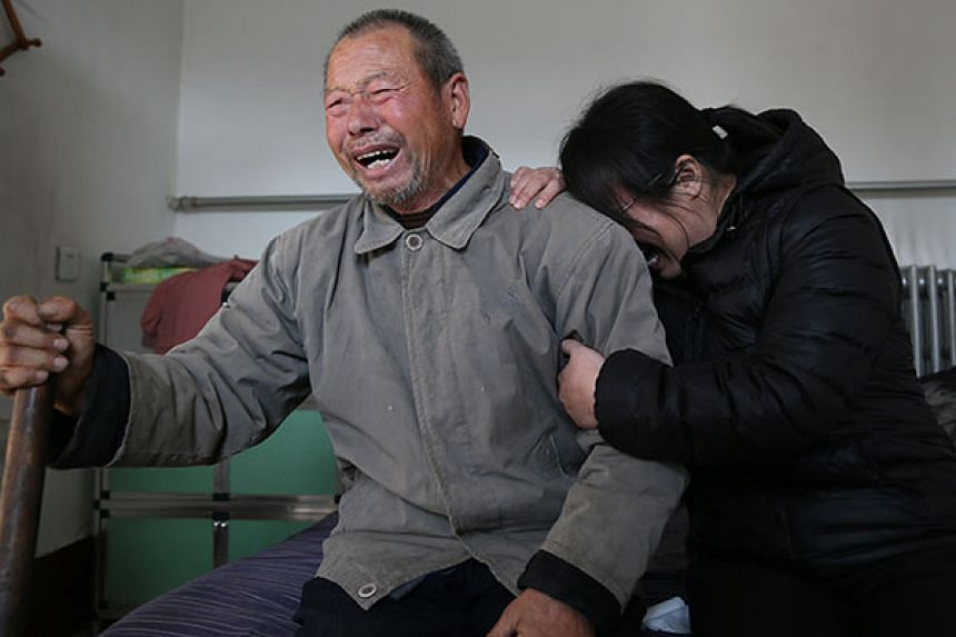 Nie Shubin's father Nie Xuesheng and his older sister Nie Shuhui burst into tears at home in Shijiazhuang, Hebei province, after hearing the top court's verdict on Friday (Dec 2).