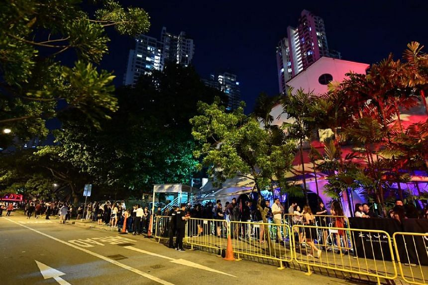 The queue for Zouk at 10pm on Dec 3, 2016.