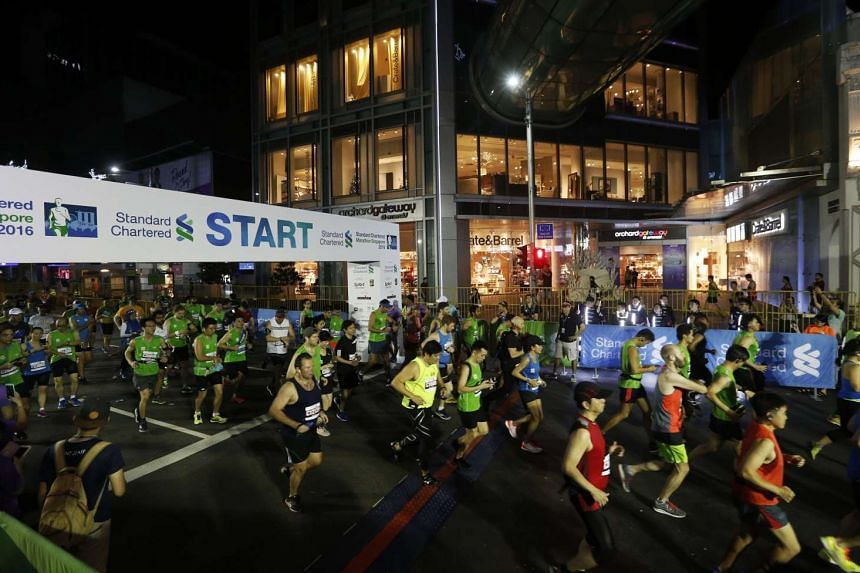 A 29-year-old man has died after collapsing at the Standard Chartered Marathon Singapore.
