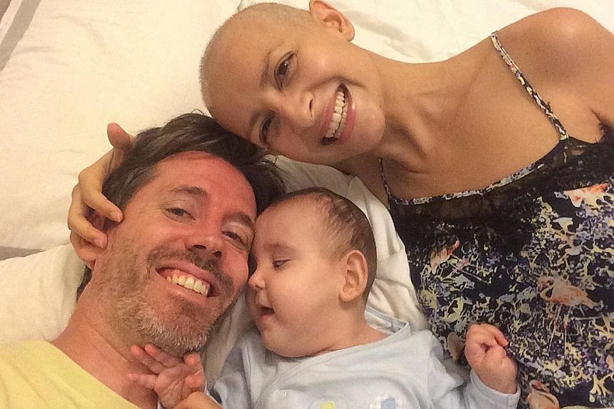 Mr Recordon (right and far right, with wife Juliet and daughter Elsa) said he hopes their story will help people see that they should stop worrying about the little things. Juliet and Elsa are still alive and fighting, two years after a bleak medical