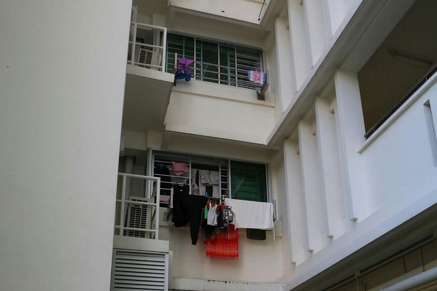 A woman died after falling from a third-storey flat in Punggol on Dec 3, 2016.