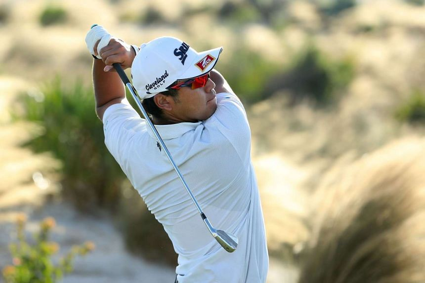 Hideki Matsuyama of Japan hits a tee shot on the 17th hole during the final round of the Hero World Challenge at Albany, The Bahamas on Dec 4, 2016 in Nassau, Bahamas.