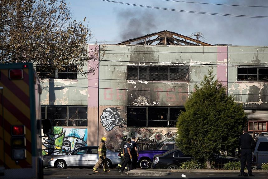 The fire at the makeshift nightclub is one of the deadliest structure fires in the US in the past decade. According to firefighters, the building, known as the Ghost Ship, did not seem to have sprinklers or smoke detectors.