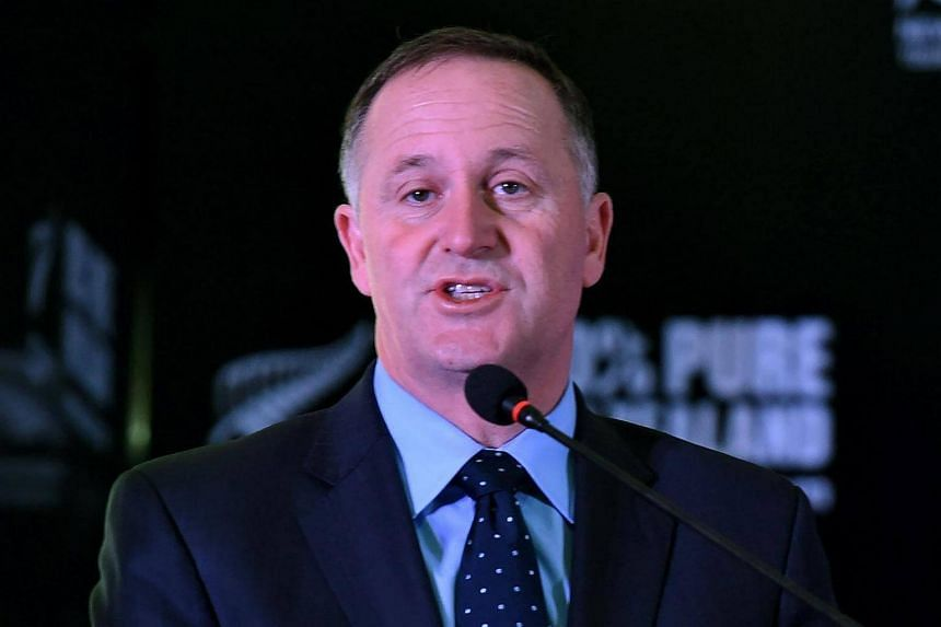 New Zealand Prime Minister John Key gives a speech at a New Delhi event on Oct 27, 2016.