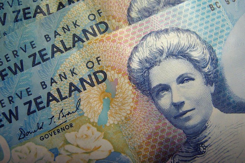 The New Zealand dollar fell to as low as US$0.7070, in its the biggest percentage drop since Nov 11.