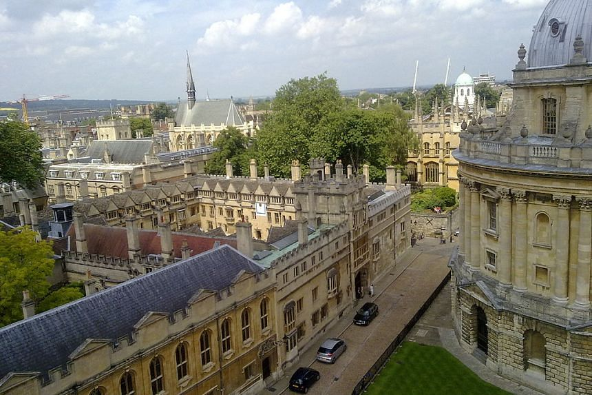 Oxford University's Brasenose College. viewed from St Mary's.