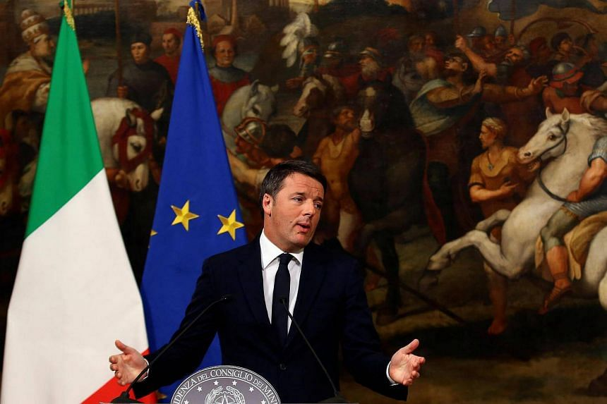Italian Prime Minister Matteo Renzi speaks during a media conference in Rome after the referendum.