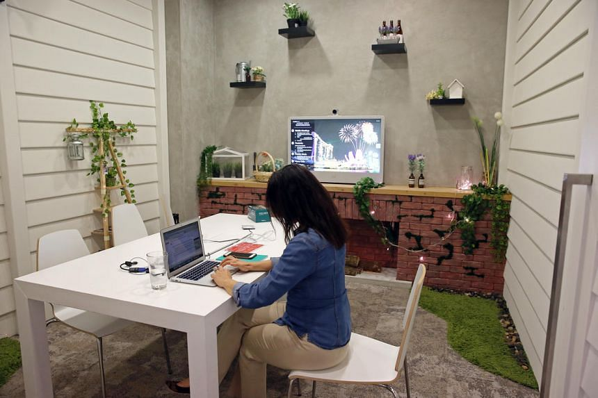 An Airbnb office meeting room is designed to look like one of its hosts' home. Home-sharing business Airbnb, which set up its regional headquarters in Singapore in 2012, has about 7,000 property listings here as of November 2016.