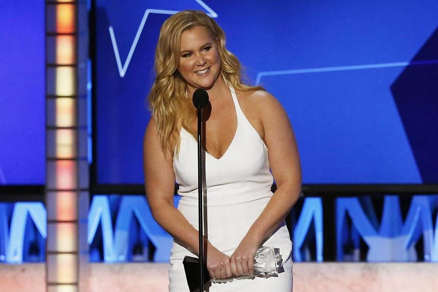 Amy Schumer accepting the award for Best Actress in a Comedy for Trainwreck during the 21st Annual Critics' Choice Awards in Santa Monica, California, US, on Jan 17, 2016.