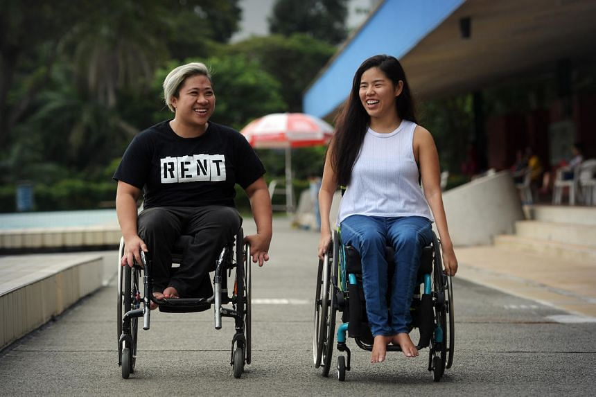 Paralympian medallists Theresa Goh (left) and Yip Pin Xiu will be at Safra Toa Payoh today to meet members of the special needs community.