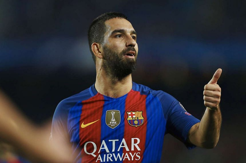 Barcelona's Turkish midfielder Arda Turan during the match.