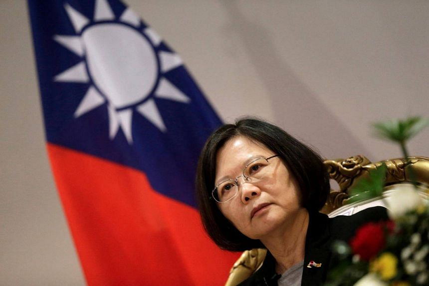 Taiwan's President Tsai Ing-wen speaking during an interview in Luque, Paraguay, on June 28, 2016.