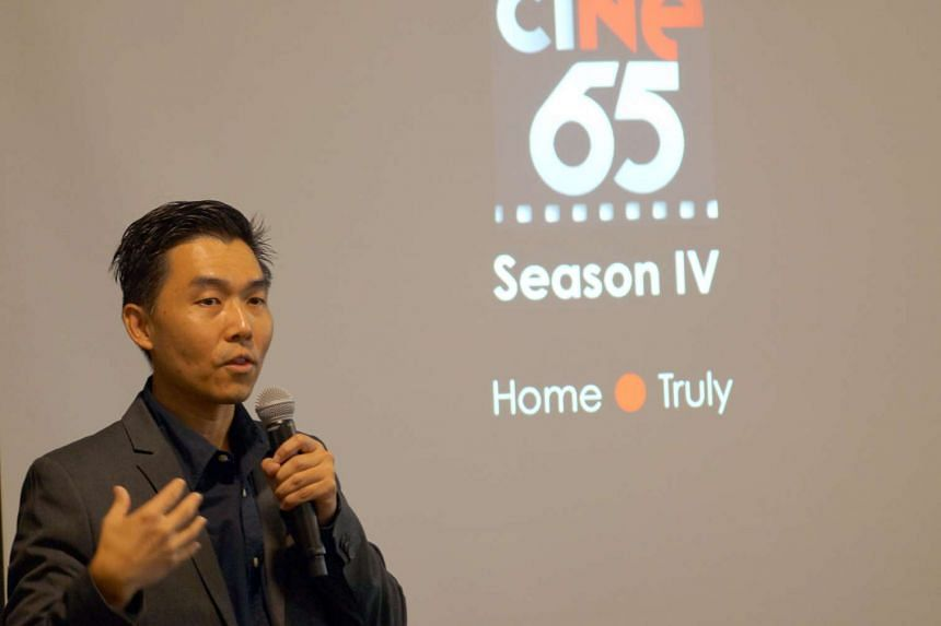 "Colonel Joseph Tan Boon Kiat, Director, Nexus, sharing the theme of ciNE65 Season Four, ""Home • Truly""."