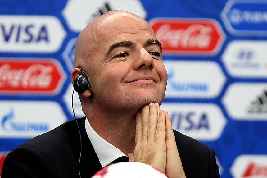 Fifa president Gianni Infantino attends a press conference in Kazan on Nov 26, 2016, ahead of the draw for the 2017 Fifa Confederations Cup.