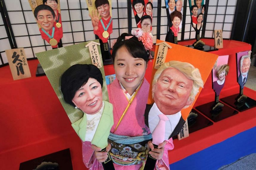 Japan swinging into 2017 with Trumped-up good luck charm