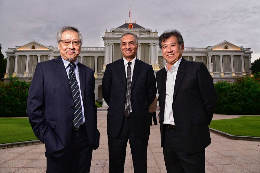 (From left) Architect Raymond Woo, design engineer Dr Hossein Rezai and architect Rene Tan were handed accolades for Designers of The Year at the annual President's Design Award on Friday, Dec 9.