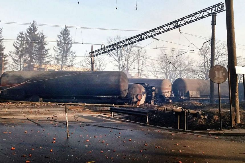 A freight train derailed some 360km from Sofia, Bulgaria, on Dec 10, 2016, killing at least five people.