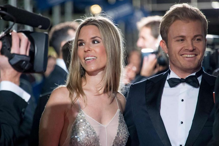 Rosberg and his wife Vivian arrive for the FIA prize-giving gala in Vienna, Austria, on Dec 2, 2016.