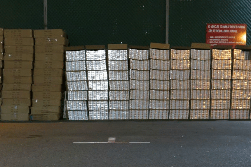Singapore Customs seized 5,635 cartons of contraband cigarettes at a self-storage facility on Dec 7.