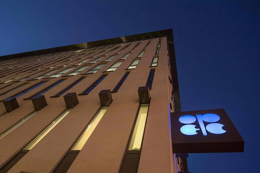 The logo of Opec at the Opec headquarters on the eve of the 171th meeting of the Organization of the Petroleum Exporting Countries in Vienna on Nov 29, 2016.