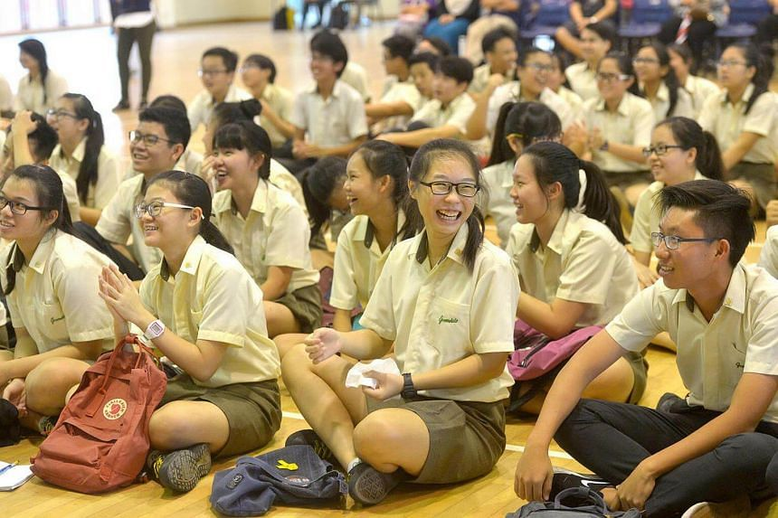 Students at Greendale Secondary School waiting to collect their N Level results.