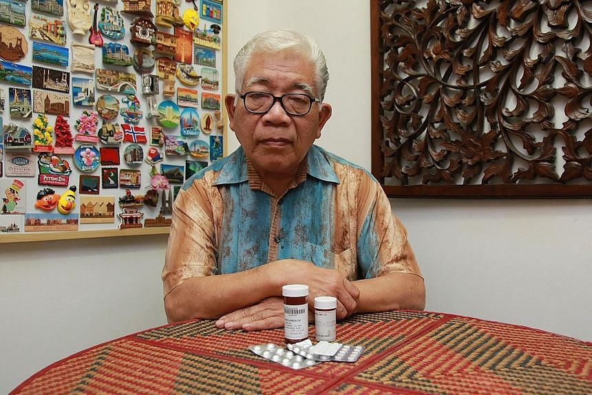 Mr Abdul Aziz Ismail, 70, who works as a customer service associate, was diagnosed with gout this year. He is taking a total of six different medications, including those for the heart and prostate.