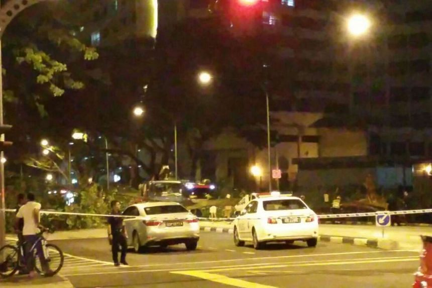 A tree fell across Aljunied Road, crushing a vehicle and closing part of the road on Dec 13, 2016.