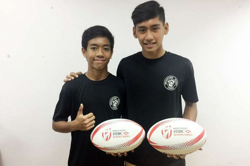 Rugby youth players Muhammad Nur Hidayat Jeffrydin and Miguel Erwin Besoro William will head to New Zealand for a training stint in June next year (2017).