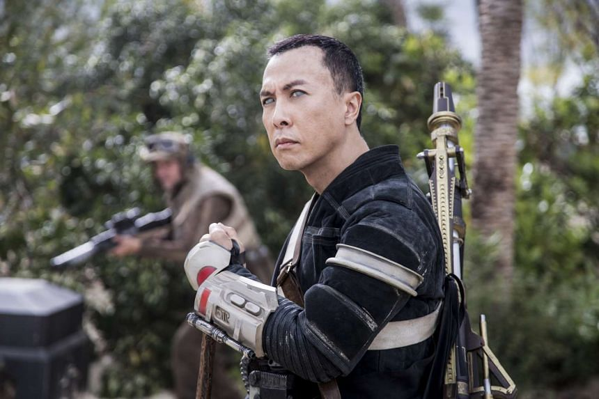 Hong Kong action star Donnie Yen plays Chirrut Imwe, some kind of Jedi gongfu warrior. He gets to show off some moves and also has a poignant and pivotal scene towards the end.