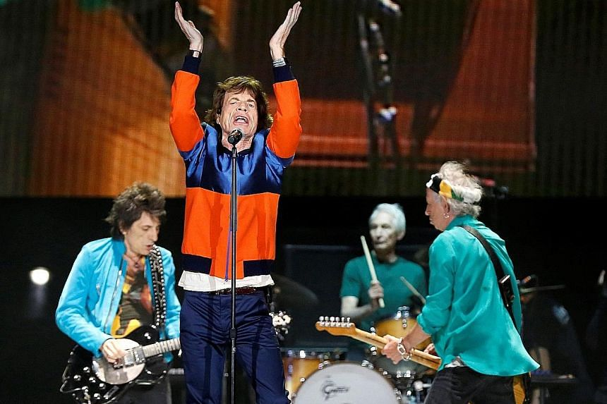 Tight musicianship from The Rolling Stones (comprising, from left, Ronnie Wood, Mick Jagger, Charlie Watts and Keith Richards).