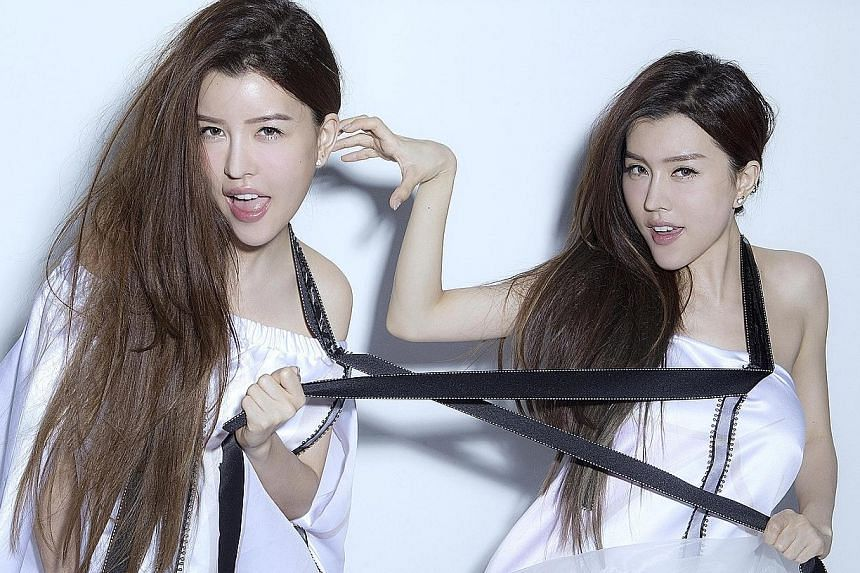 Miko (left) and Yumi Bai of girl group By2.