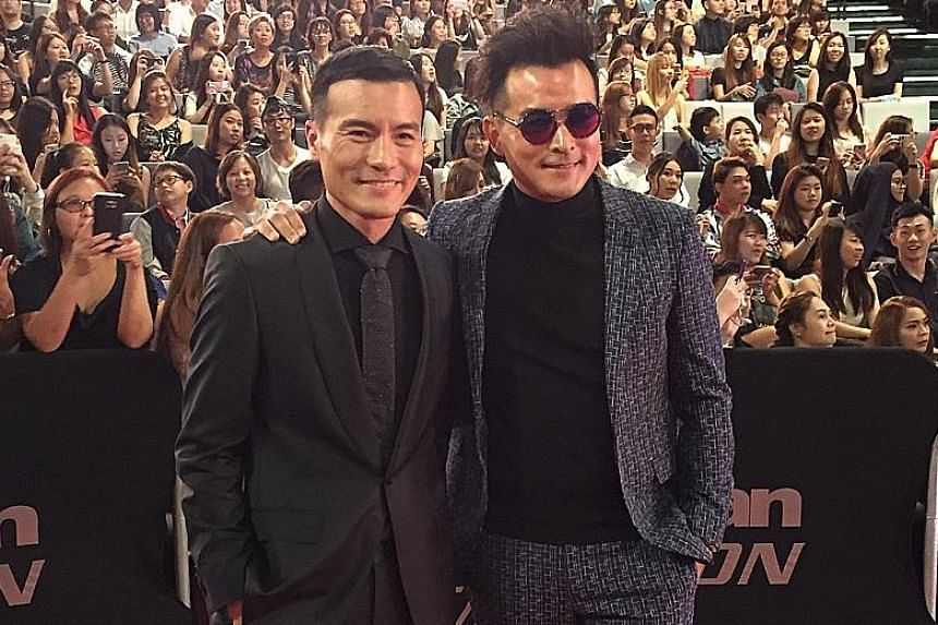 Actor brothers Frederick and Christopher Lee (in sunglasses) at the recent Asian Television Awards.