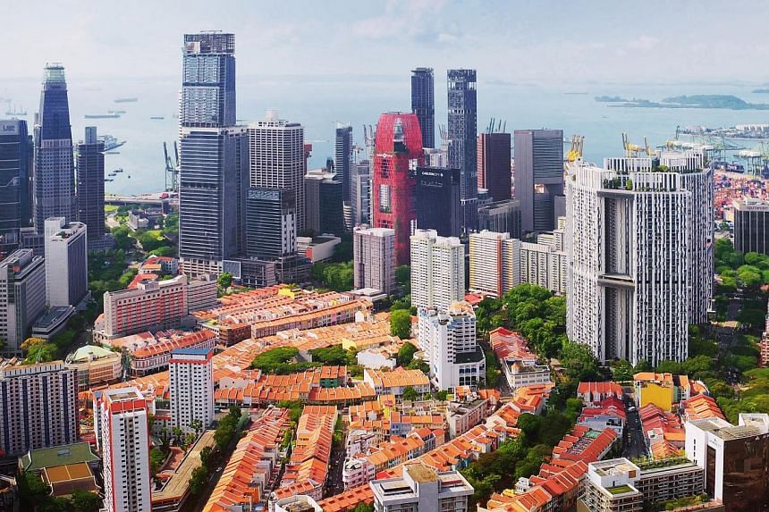 An aerial shot of the Tanjong Pagar and Keppel area taken by Flyht Studio, one of the new aerial photography firms set up this year on the back of higher demand for such services.