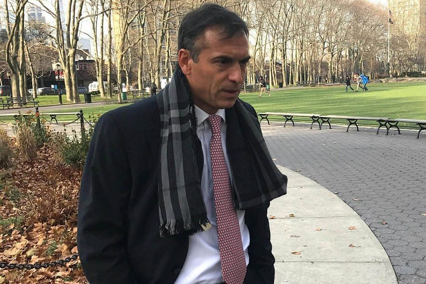 Ignacio Galarza, the general manager of the Argentine sports communications firm Torneos y Competencias S.A., is seen following a hearing in United States Court in Brooklyn, New York on Dec 13, 2016.