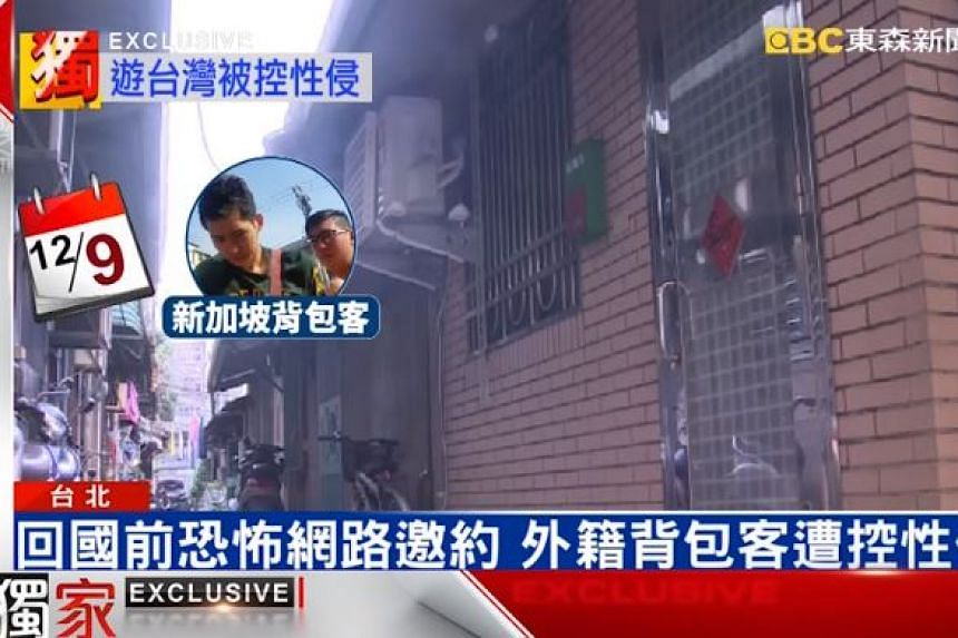 The rented apartment where the four Singapore men allegedly raped the two Taiwanese women.