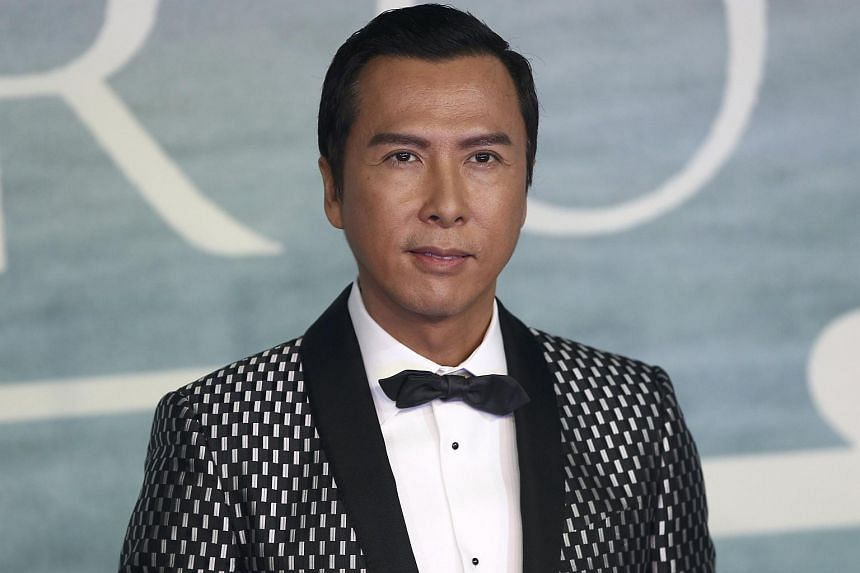 Donnie Yen arrives at the European Premiere of Star Wars Rogue One at the Tate Modern in London, Britain on Dec 13, 2016.